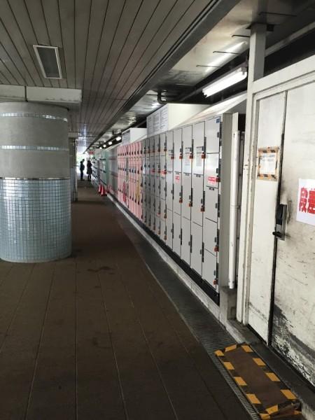 枚亜浜駅のコインロッカー