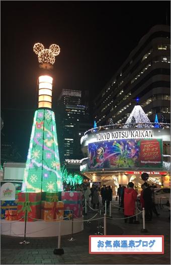 有楽町駅前のクリスマスツリー